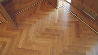 Herringbone Parquet Floor Fitting