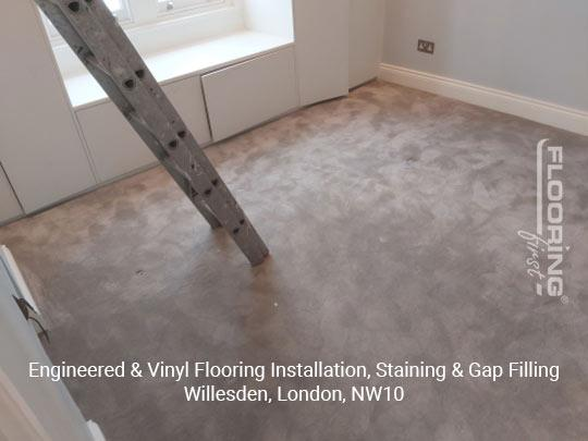 Engineered & vinyl flooring installation, staining & gap filling in Willesden