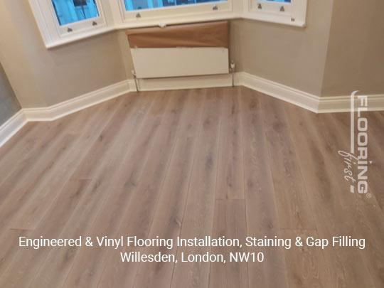 Engineered & vinyl flooring installation, staining & gap filling in Willesden 7