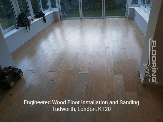 Engineered wood floor fitting and sanding in Tadworth