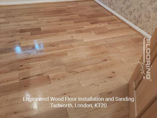 Engineered wood floor fitting and sanding in Tadworth 7