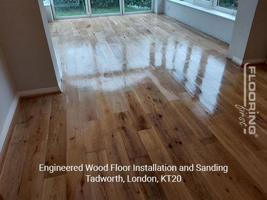 Engineered wood floor fitting and sanding in Tadworth 8