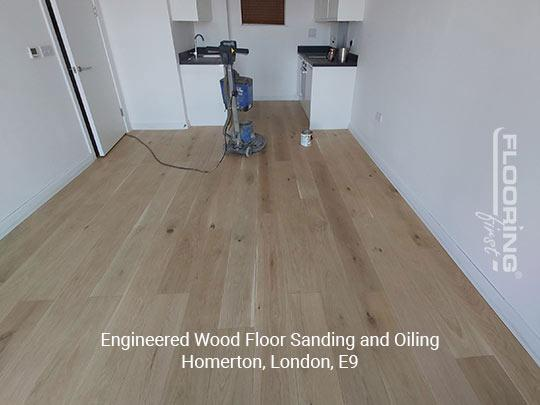 Engineered wood floor sanding and oiling in Homerton 1
