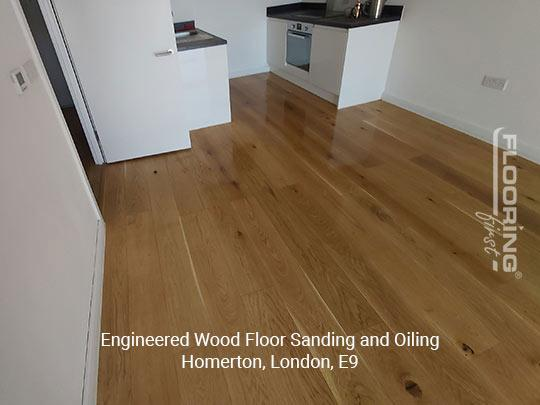 Engineered wood floor sanding and oiling in Homerton 3