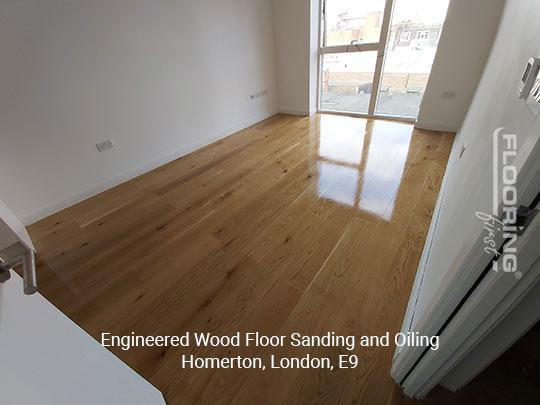 Engineered wood floor sanding and oiling in Homerton 4