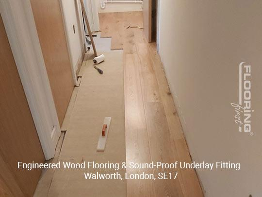 Engineered wood flooring & sound-proof underlay fitting in Walworth