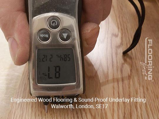 Engineered wood flooring & sound-proof underlay fitting in Walworth 1