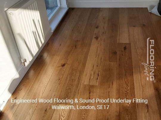 Engineered wood flooring & sound-proof underlay fitting in Walworth 7