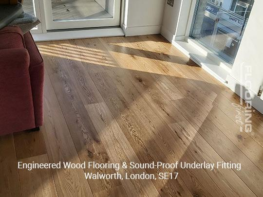 Engineered wood flooring & sound-proof underlay fitting in Walworth 8