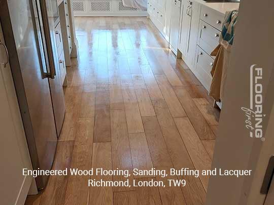 Engineered wood flooring, sanding, buffing and lacquer in Richmond 5