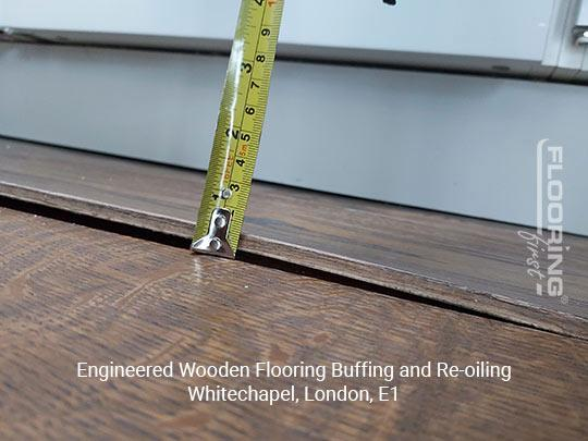 Engineered wooden flooring buffing and re-oiling in Whitechapel 2