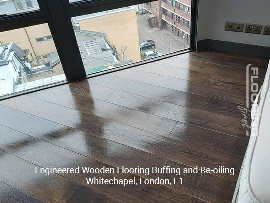 Engineered wooden flooring buffing and re-oiling in Whitechapel 5