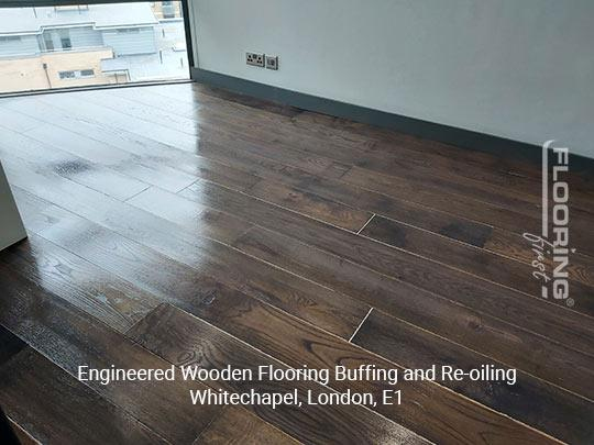 Engineered wooden flooring buffing and re-oiling in Whitechapel 7