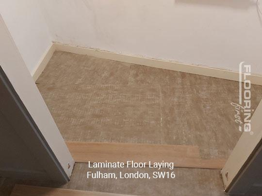 Laminate floor fitting in Fulham