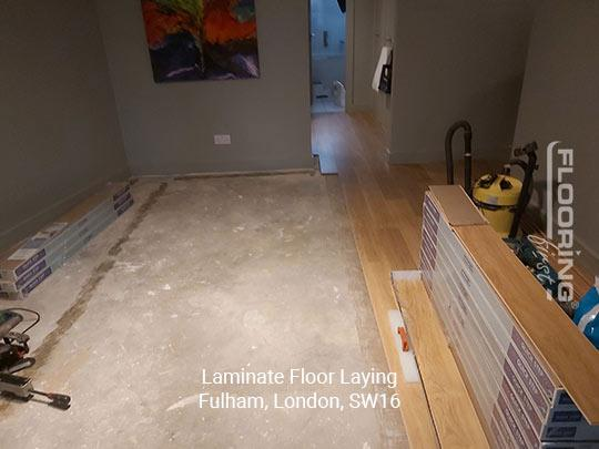 Laminate floor fitting in Fulham 1