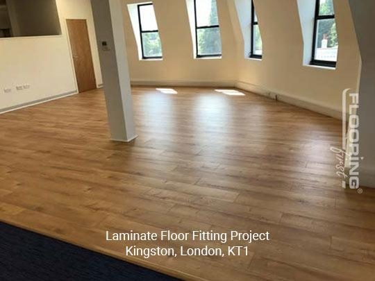 Laminate floor fitting project in Kingston