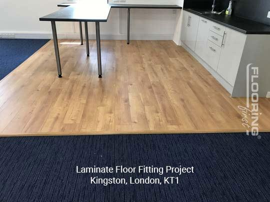 Laminate floor fitting project in Kingston 1