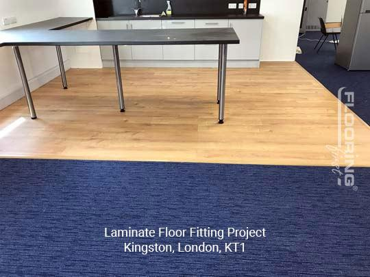Laminate floor fitting project in Kingston 3
