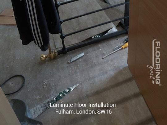 Laminate floor installation in Fulham