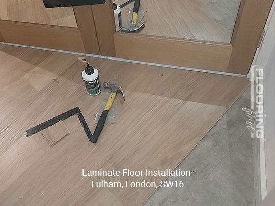 Laminate floor installation in Fulham 1