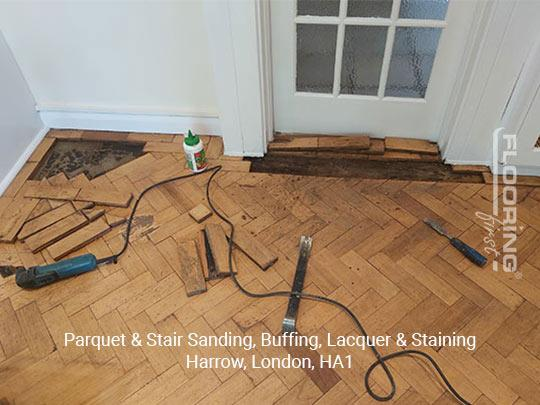 Parquet & stairs sanding, buffing, lacquer & staining in Harrow