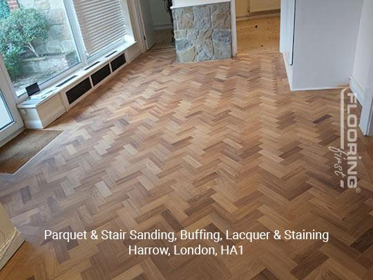 Parquet & stairs sanding, buffing, lacquer & staining in Harrow 10