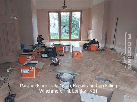 Parquet floor fitting, repair and gap filling in Winchmore Hill