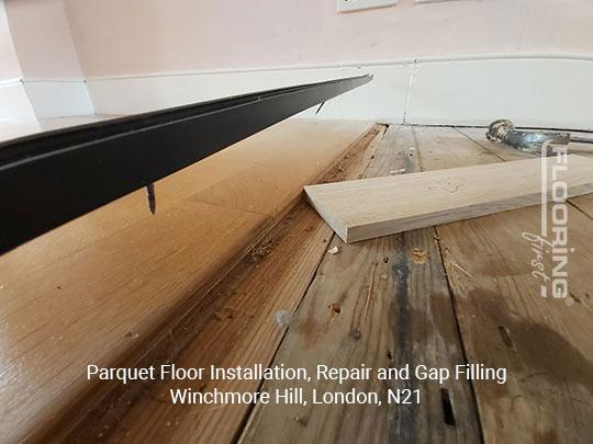 Parquet floor fitting, repair and gap filling in Winchmore Hill 1