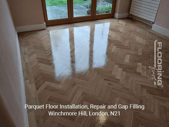 Parquet floor fitting, repair and gap filling in Winchmore Hill 7