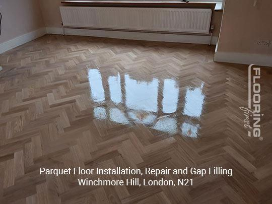 Parquet floor fitting, repair and gap filling in Winchmore Hill 8