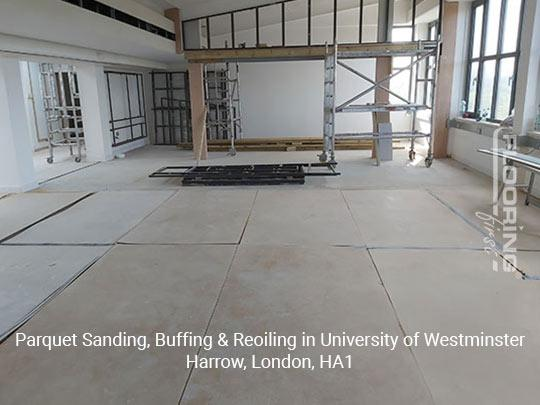 Parquet sanding, buffing & reoiling in Harrow