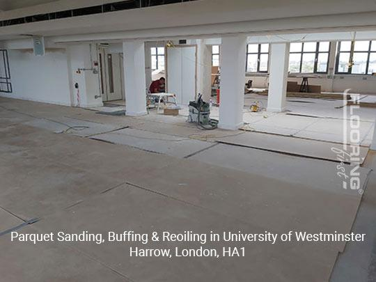 Parquet sanding, buffing & reoiling in Harrow 1