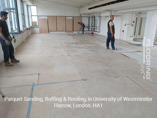 Parquet sanding, buffing & reoiling in Harrow 2