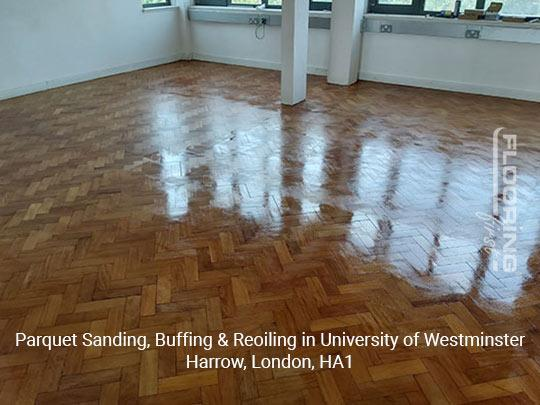 Parquet sanding, buffing & reoiling in Harrow 9