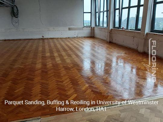 Parquet sanding, buffing & reoiling in Harrow 10
