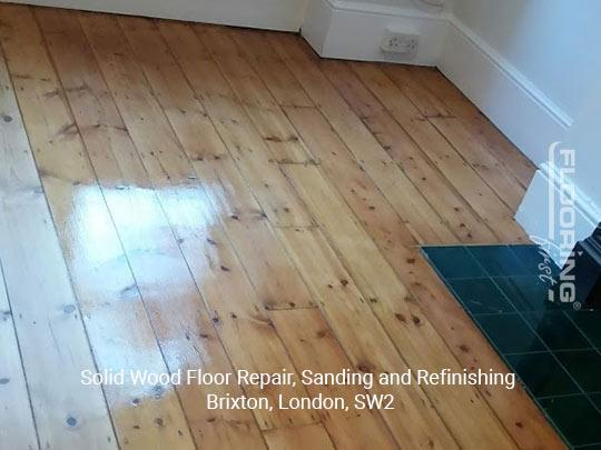 Solid wood floor repair, sanding and refinishing in Brixton 9