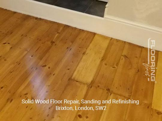 Solid wood floor repair, sanding and refinishing in Brixton 10