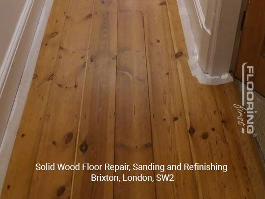 Solid wood floor repair, sanding and refinishing in Brixton 11