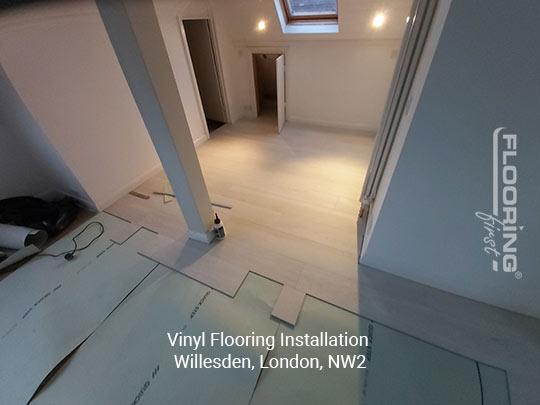 Vinyl flooring installation in Willesden