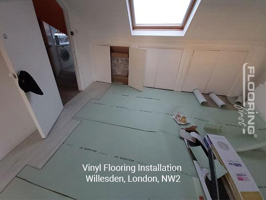 Vinyl flooring installation in Willesden 1