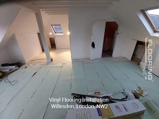 Vinyl flooring installation in Willesden 2