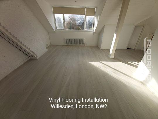 Vinyl flooring installation in Willesden 10