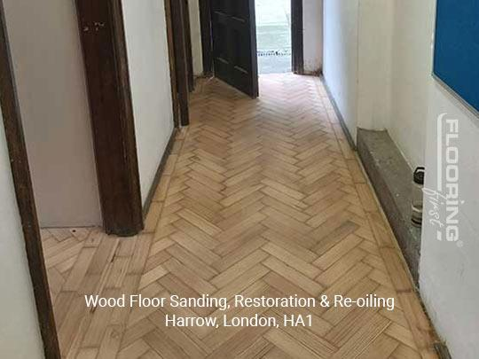 Wood floor sanding, restoration & re-oiling in Harrow 1