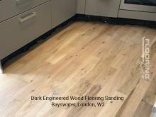 Dark engineered wood flooring sanding in Bayswater 3