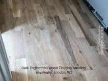 Dark engineered wood flooring sanding in Bayswater 4