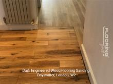 Dark engineered wood flooring sanding in Bayswater 5