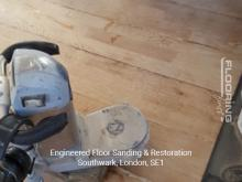 Engineered floor sanding & restoration in Southwark 1