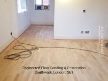 Engineered floor sanding & restoration in Southwark 2