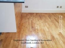 Engineered floor sanding & restoration in Southwark 5