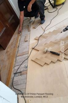 Installation of prime parquet flooring in Westminster